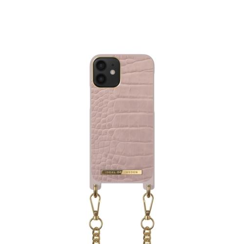 iDeal of Sweden Necklace telefontok iPhone 12 MINI Misty Rose Croco